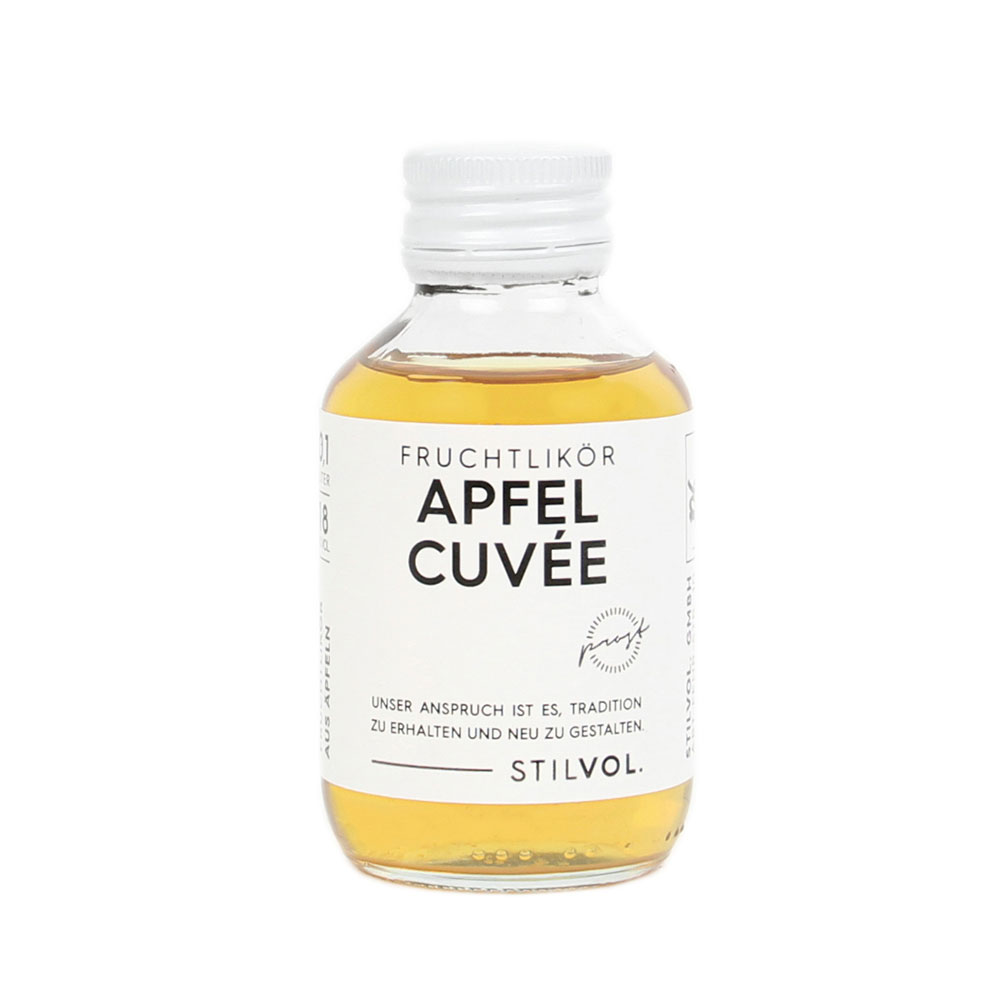 STILVOL. Schnäpse und Liköre |Naturtrüber Apfel Likör |100ml Apfel Cuvée