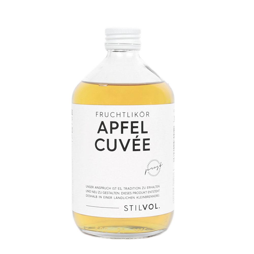 STILVOL. Schnäpse und Liköre |Naturtrüber Apfel Likör |500ml Apfel Cuvée