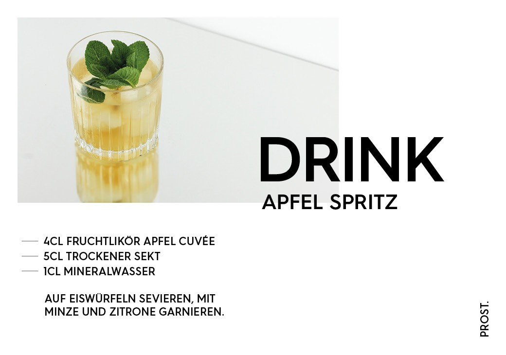 Apfel Spritz Aperitif – STILVOL. Drinks und Cocktails aus Schnaps und Likör