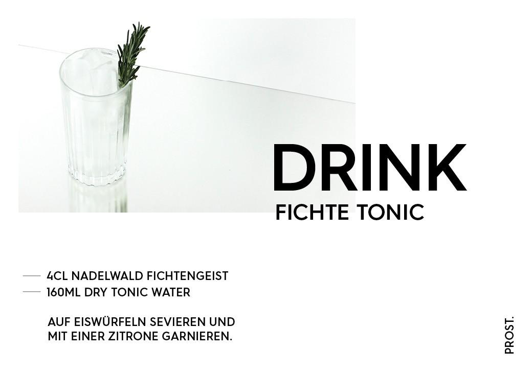 Fichte Tonic Drink – STILVOL. Drinks und Cocktails aus Schnaps und Likör