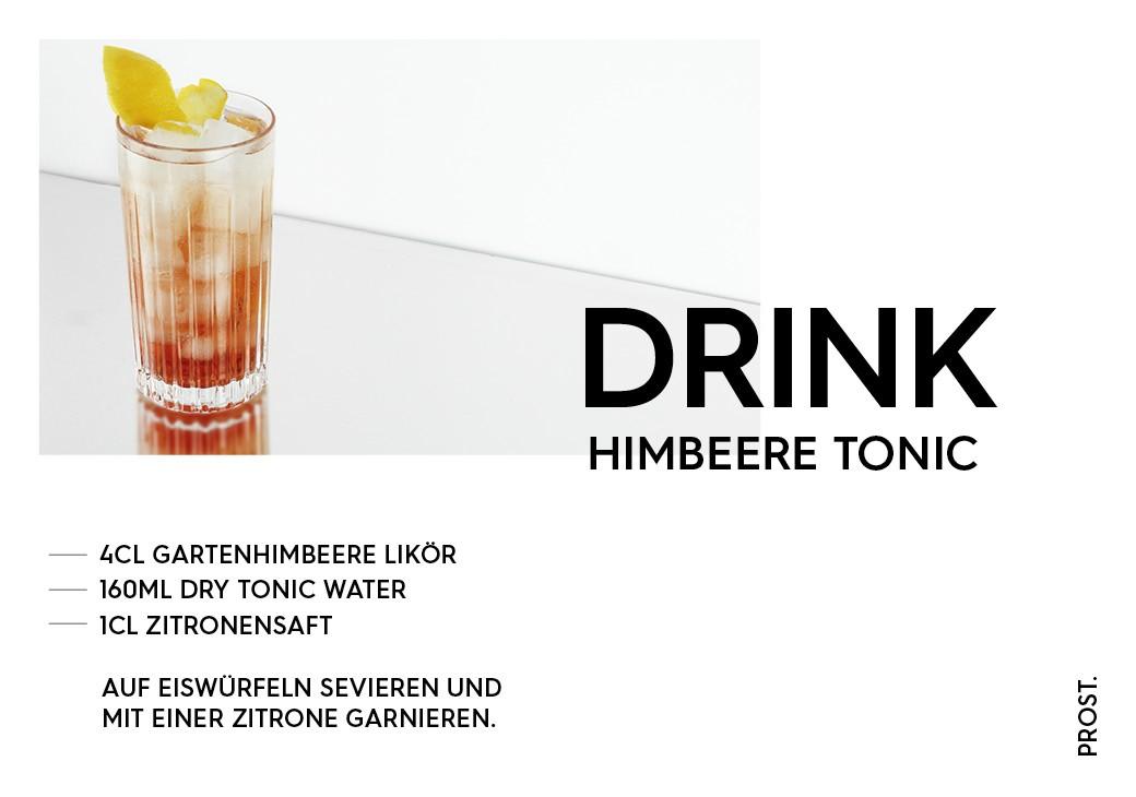 Himbeere Tonic Drink – STILVOL. Drinks und Cocktails aus Schnaps und Likör
