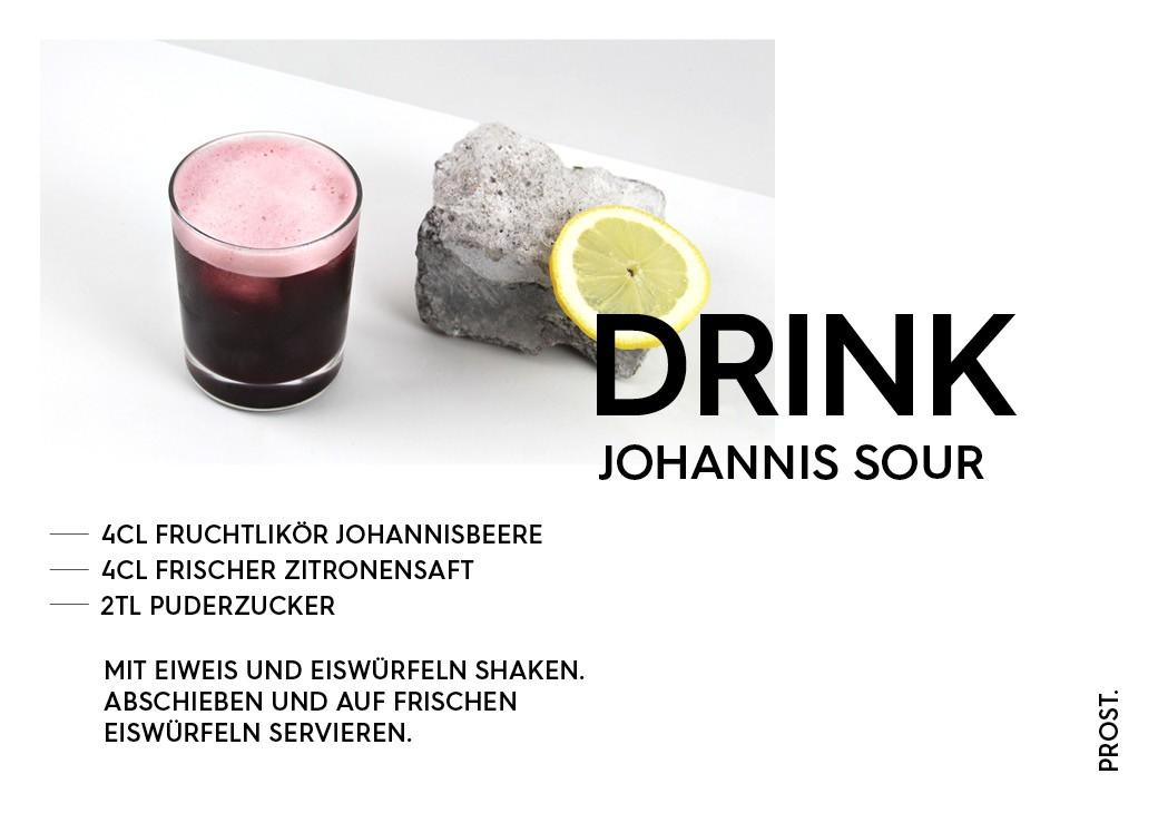 Johannisbeere Sour Drink – STILVOL. Drinks und Cocktails aus Schnaps und Likör