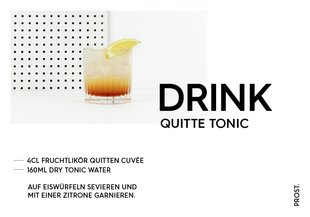 Quitte Tonic Drink – STILVOL. Drinks und Cocktails aus Schnaps und Likör