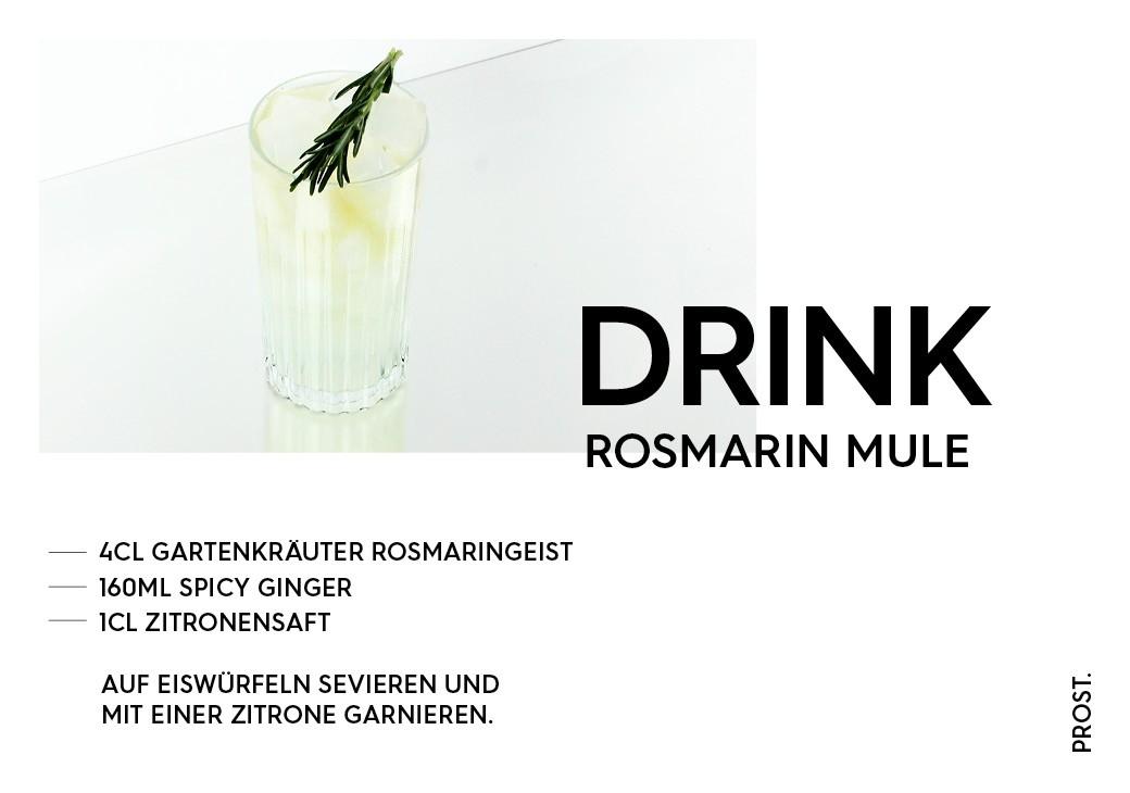 Rosmarin Mule – STILVOL. Drinks und Cocktails aus Schnaps und Likör