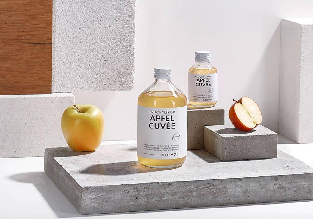 Apfel Cuvée   STILVOL. Schnaps und Likör  Schönes Design