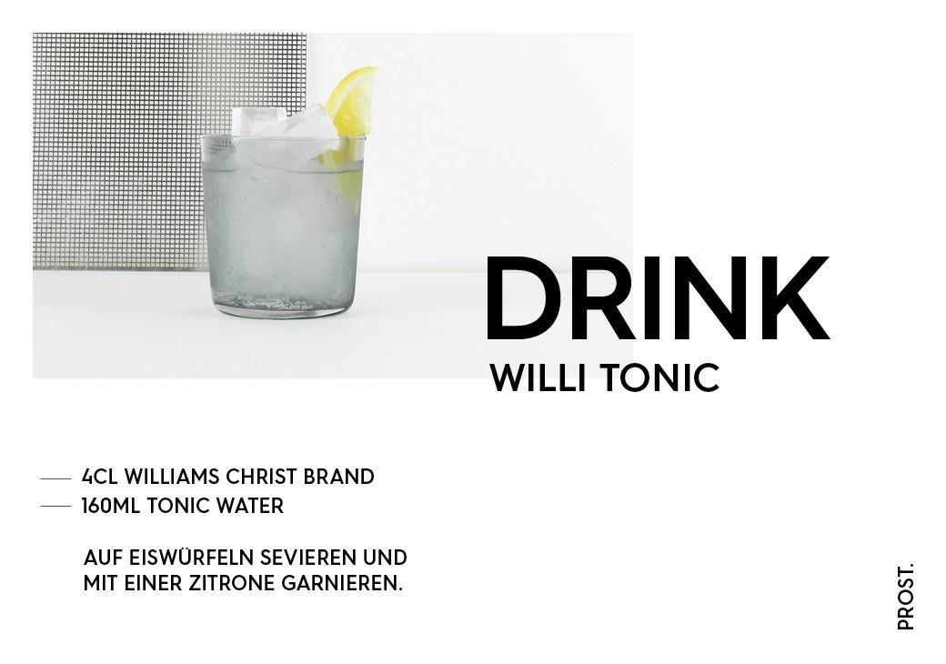 Williams Tonic – STILVOL. Drinks und Cocktails aus Schnaps und Likör