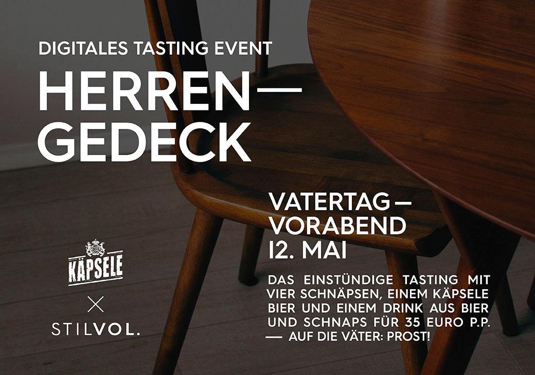 Herrengedeck |Online-Tasting Vatertag